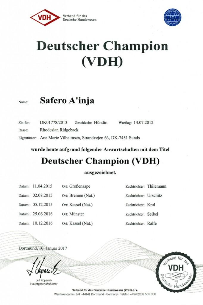 2016 Tysk Champion
